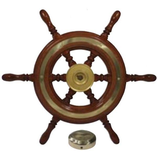 Traditional Wood Spoke Steering Wheel 37cm