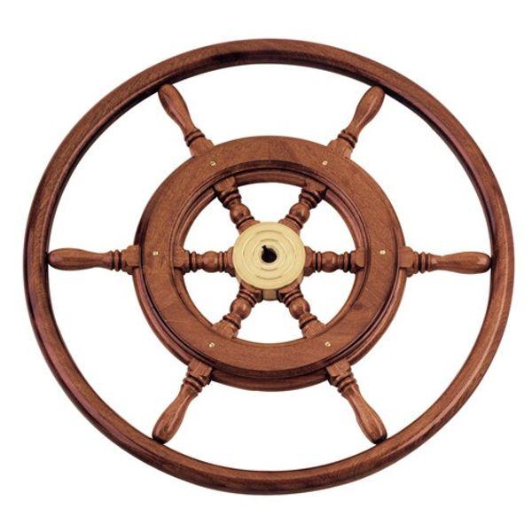 Traditional Steering Wheel Wood Rim 46cm