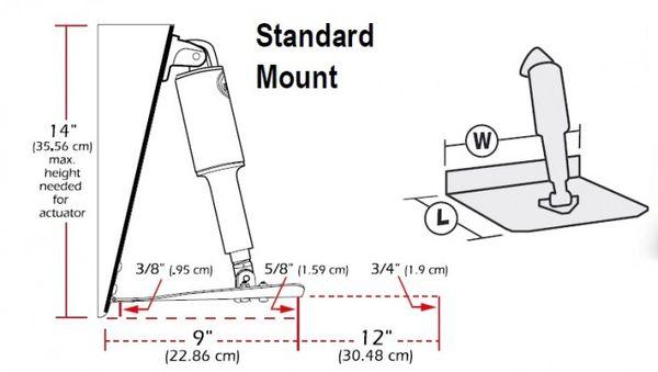 "Lenco 9"" x 9"" Standard Mount Trim Tab Kit"
