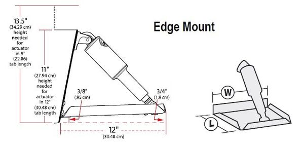 "Lenco 9"" x 9"" Edge Mount Trim Tab Kit"