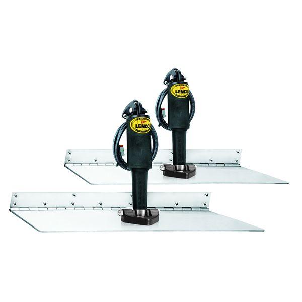 """Lenco 12"""" x 18"""" Super Strong Trim Tab Kit 24V Single Actuator"""