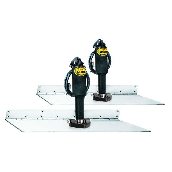 """Lenco 12"""" x 24"""" Super Strong Trim Tab Kit 24V Single Actuator"""