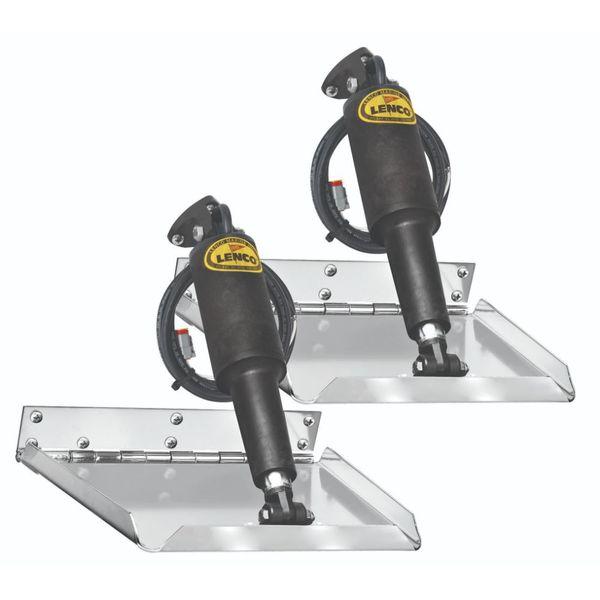 "Lenco 12"" x 12"" Standard Performance Trim Tab Kit 12V"