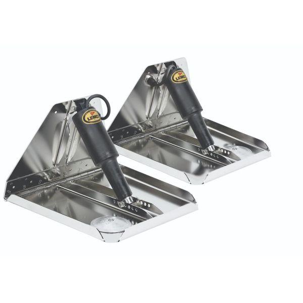 """Lenco 14"""" x 12"""" HD Performance Trim Tab Kit 12V"""