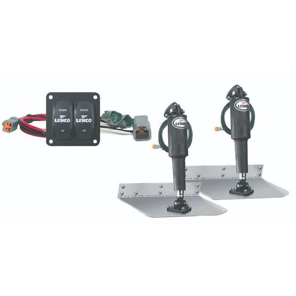 "Lenco 9"" x 12"" Complete Standard Mount Trim Tab Kit"