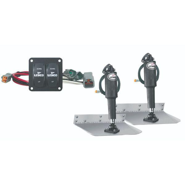 "Lenco 12"" x 12"" Complete Standard Mount Trim Tab Kit"
