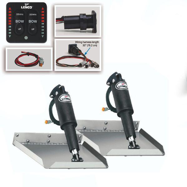 "Lenco 12"" x 12"" Complete Edge Mount Trim Tab Kit"