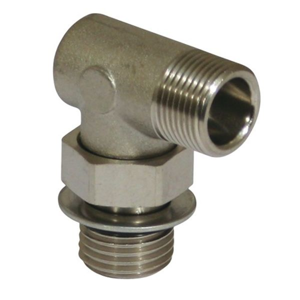 Hydraulic Connector 90 Degree Male Stud Parallel/Adjustable