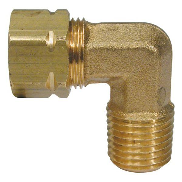 "Hydraulic Connector 90 Degree Male Stud 3/8"" Tube"