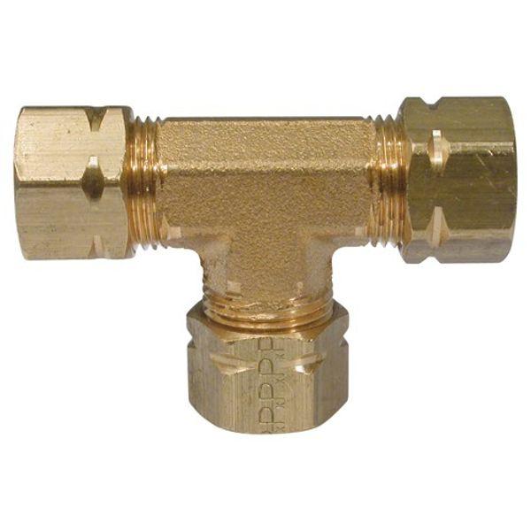 "Hydraulic Equal Tee Connector 3/8"" Tube"