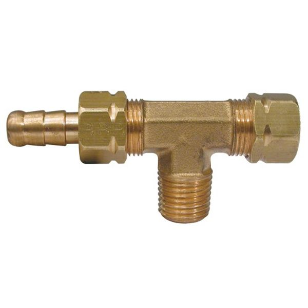 """Hydraulic Bleed T Connector Male 3/8"""" Tube"""