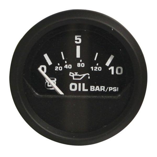 Oil Pressure Gauge 0-10 Bar (Black)