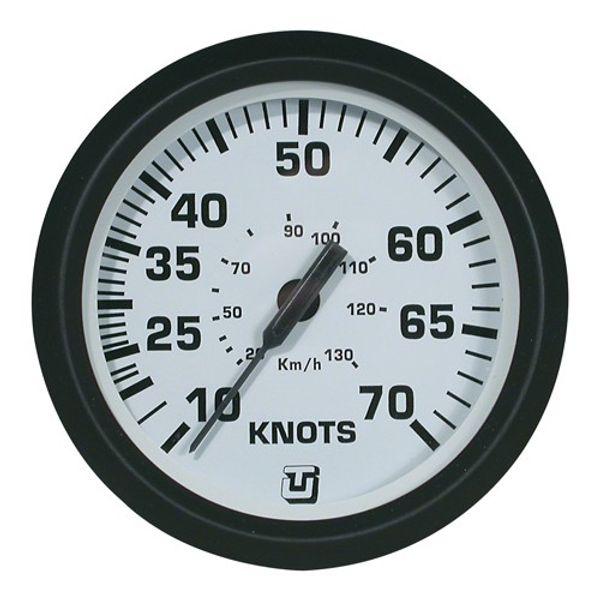 70 Knot Speedometer Pitot Gauge White