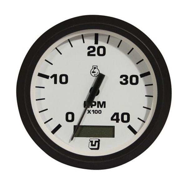 4000 RPM Tach-Hourmeter Gauge Black