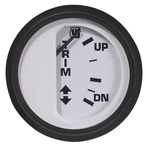 Trim Indicator Mercury Gauge White