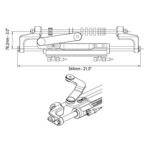 UC128-OBF/3 Outboard Front Mount Hydraulic Cylinder