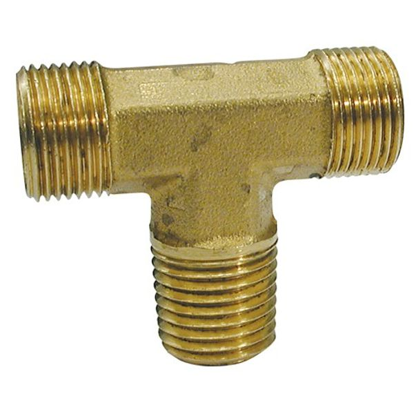 """PH 1/4"""" NPT Male Branch Tee to Tube End (No Nuts)"""