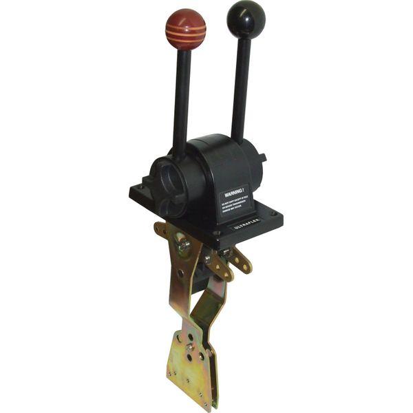 Two Lever Control Throttle + Gear Black