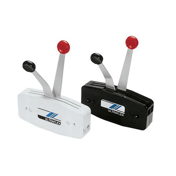 Two Lever Outboard Control Surface Mount Black