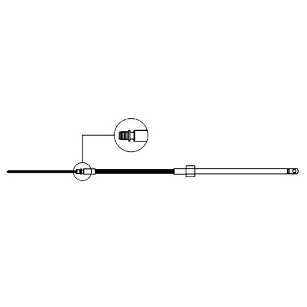 M58 Steering Cable 8ft