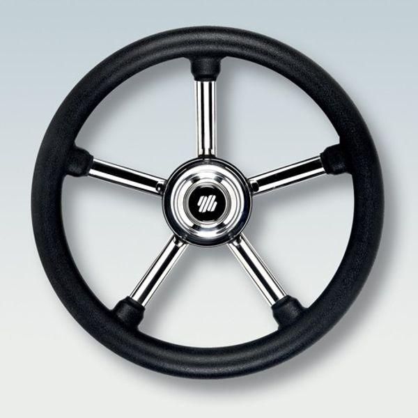 Steering Wheel SS Poly Grip Black 350mm
