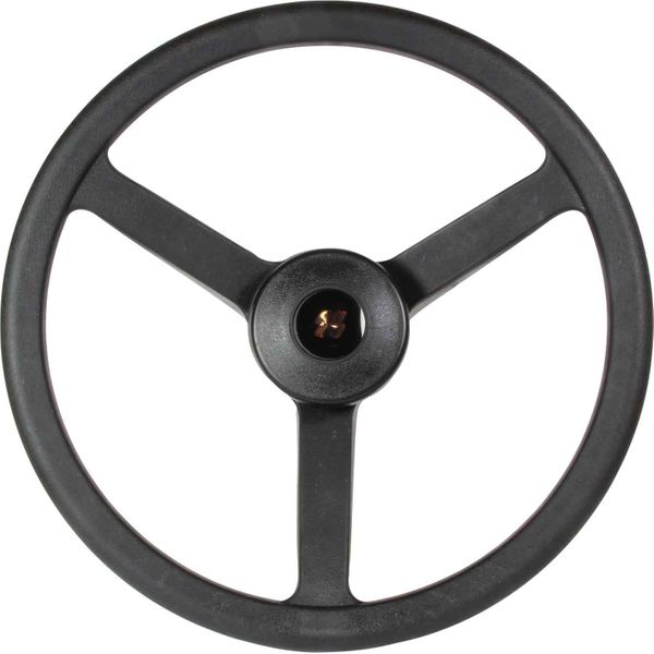 Steering Wheel 3 Spoke Black 335mm
