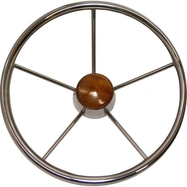 Steering Wheel Stainless Steel 345mm