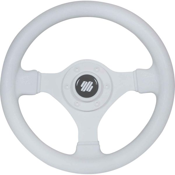 Steering Wheel Small Soft Grip White 280mm