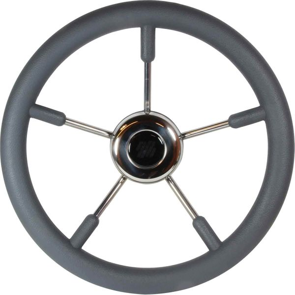 Steering Wheel SS Soft Grip Grey 350mm