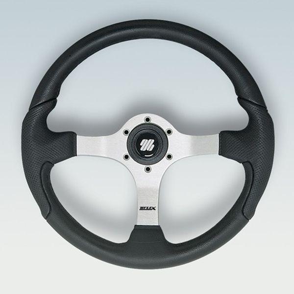 Nisida Wheel Silver Centre Black Grip 350mm