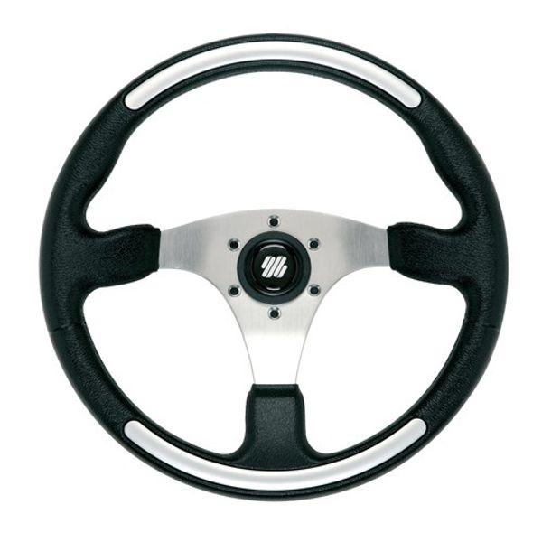 Santorini Wheel Black & Silver Grip 350mm