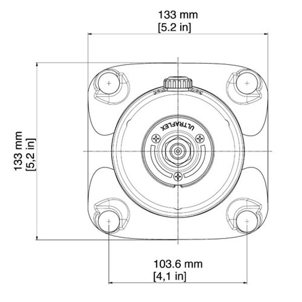 X74 Square Flange to Fit Hydraulic Helm