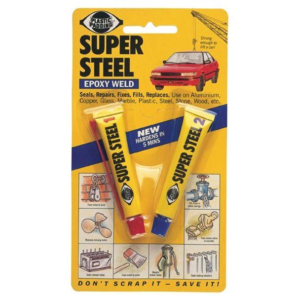 Plastic Pad Super Steel Epoxy Weld 50G (x12)