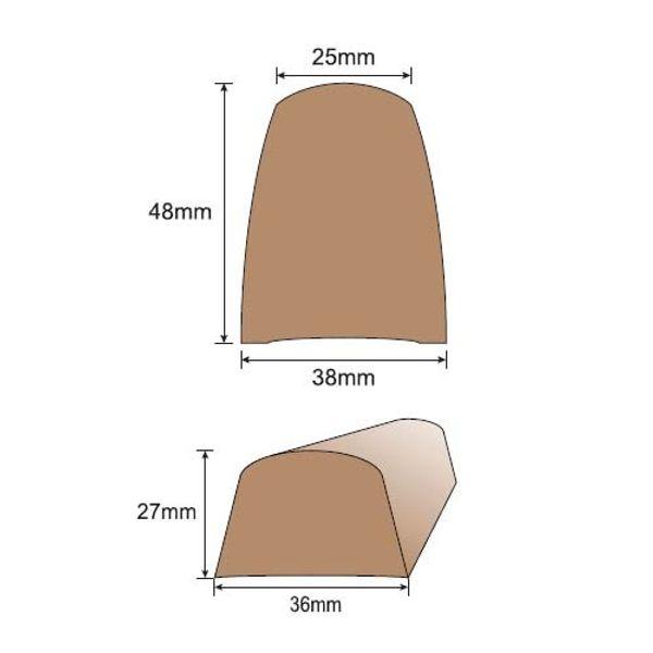 Wilks Dek-King Toerail Section 38 x 48mm x 2m