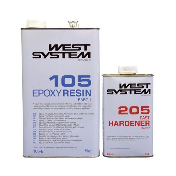 West System 6kg B Pack: 105 Resin+ 205 Fast Hardener