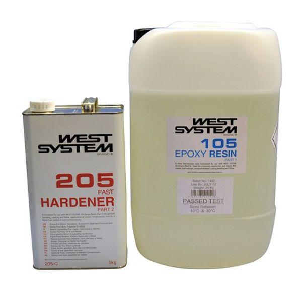 West System 30kg C Pack: 105 Resin+ 205 Fast Hardener