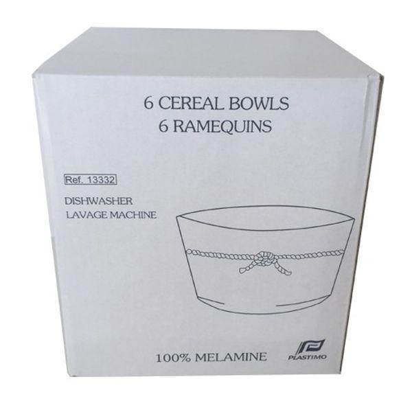 Plastimo Melamine Cereal Bowl 13cm (Pk.6)