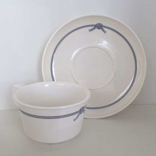 Plastimo Melamine Coffee Cup with Saucer (Pk.6)
